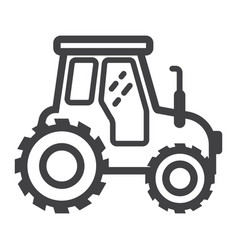 tractor line icon transport and vehicle vector image