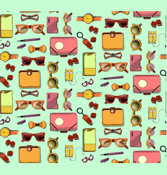 Trendy hipster elements seamless pattern vector
