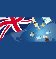 Uk united kingdom england economy fiscal money vector