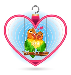 Valentine Love Bird vector image vector image