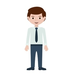 Man with formal shirt and pants vector
