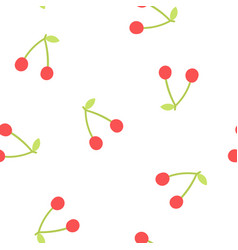 cute cherry background vector image