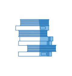 School pile books study education image vector