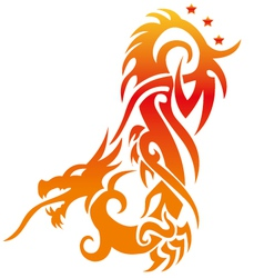 Asian dragon fully editable vector