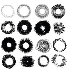 1989hand drawn circles vector