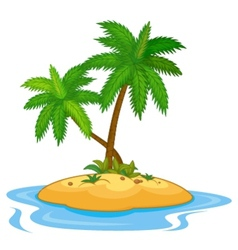 Tropical island cartoon vector