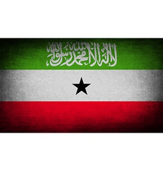 Flag of somaliland with old texture vector