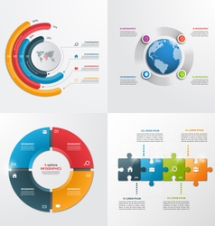 4 steps infographic templates Business concept vector image vector image