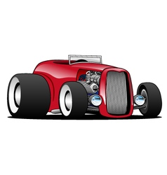 Classic street rod hi boy roadster vector