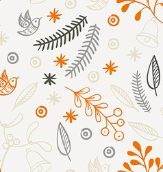 Retro hand drawn winter holidays seamless patterns vector