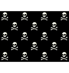 Skull halloween pattern vector