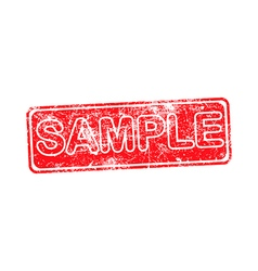 Sample red grunge rubber stamp vector