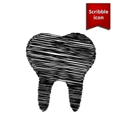 Tooth icon scribble icon for you design vector