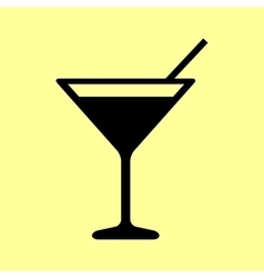 Coctail sign flat style icon vector
