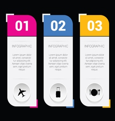 Infographic set idea in colorful vector