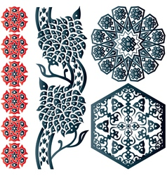 Floral islamic ornaments vector