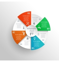 Abstract circle infographic chart vector image