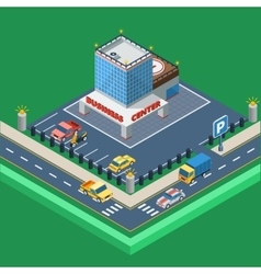 Business center isometric vector