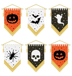 Halloween pennants vector