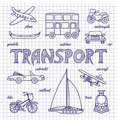 Set of sketches transportation vector