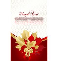 abstract card with leafs vector image vector image