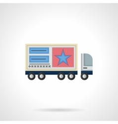 Advertisement on trucks flat color icon vector