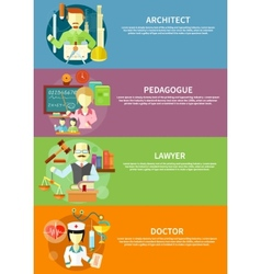 Architect lawyer doctor and pedagogue vector