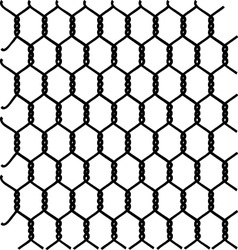 braided galvanized wire vector image vector image