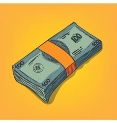 Bunch of money bills vector