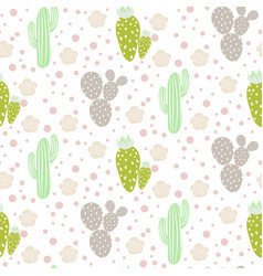 cactus desert seamless pattern green and vector image vector image