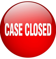 Case closed red round gel isolated push button vector