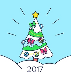 Christmas tree and snow vector