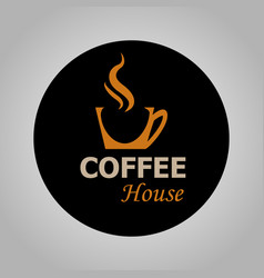 coffee house logotype vector image vector image
