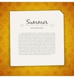 Colorful Summer Background with Copy Space vector image vector image