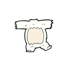 Comic cartoon polar bear body vector
