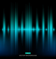 Dark modern turquoise background vertical laser vector