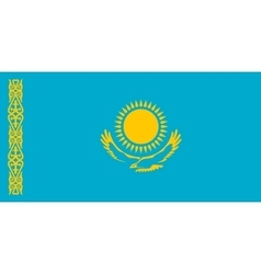 Flag of kazakhstan in correct size colors vector