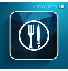 Food service logo design template cafe vector image