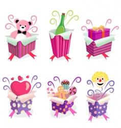 gift box set vector image vector image