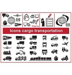 Icons cargo transportation vector