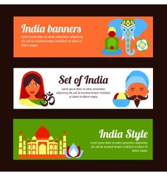 India mini poster vector image vector image