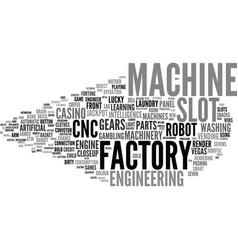 Machine word cloud concept vector