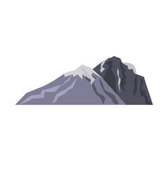mountain landscape snow nature travel hiking peak vector image vector image
