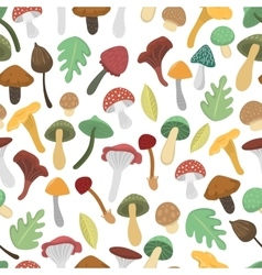 Mushrooms seamless pattern vector image