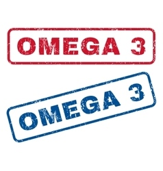 Omega 3 rubber stamps vector