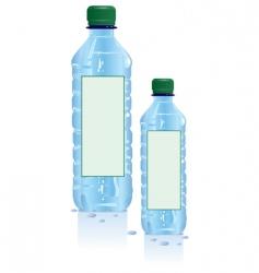 Plastic water bottles vector