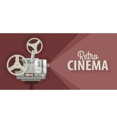 Retro movie projector for old vector
