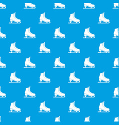 skates pattern seamless blue vector image