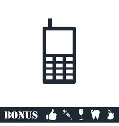 Smartphone icon flat vector image