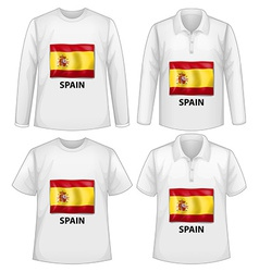 Spain shirts vector image